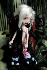 Meiko is a sensual warrior (Vali.Tox.Doll) Tags: mystery doll panda circus makeup elf wig bjd kane monique vali nefer