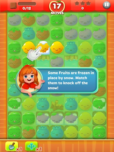 Fruit Splash Mania Tutorial: screenshots, UI