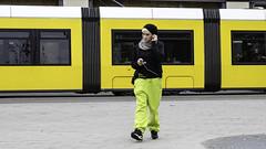 Woman, Tram
