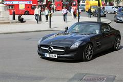 SLS 63 AMG (kenjonbro) Tags: uk england black london westminster mercedes trafalgarsquare convertible 63 mercedesbenz cabrio charingcross amg sw1 roadster worldcars kenjonbro sls63amg sls63 canoneos5dmkiii canonzoomlensef70300mm1456isusm ky61wjm