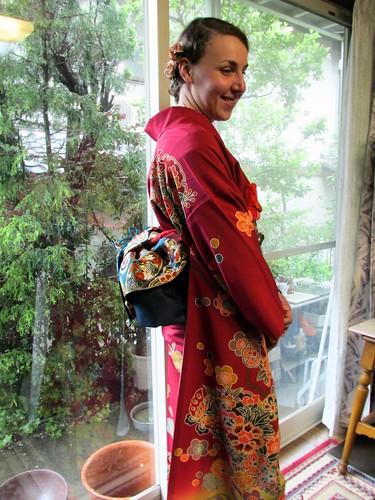 Kimono, vers Nagoya, Japon