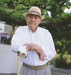 (Nasos Zovoilis) Tags: park travel bridge family summer vacation portrait people white man tree male love senior beautiful look hat station forest train hair walking outside outdoors happy person sadness one mood alone sad adult outdoor body walk empty south gray lifestyle atmosphere husband athens well full suit greece mature together elderly seventy casual unhappy economy dressed crisis retirement active caucasian