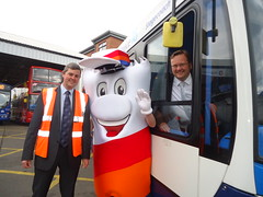 "Stephen Mosley MP visits Chester Stagecoach depot during Catch A Bus Week • <a style=""font-size:0.8em;"" href=""http://www.flickr.com/photos/51035458@N07/14086203651/"" target=""_blank"">View on Flickr</a>"
