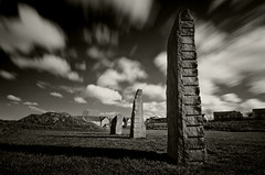 The Power Of Three. (Th3 Highlander) Tags: park longexposure sky blackandwhite storm weather clouds landscape landscapes standingstones nikon day cloudy stones sheffield yorkshire parks sigma sunny nd storms southyorkshire longexposures ndfilters 1020mmf456exdc d5100 manorfieldspark nikond5100