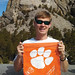 ". South Dakota Jack Robinson (current student) displayed his Clemson spirit at Mount Rushmore National Memorial. • <a style=""font-size:0.8em;"" href=""http://www.flickr.com/photos/49650603@N07/14112620131/"" target=""_blank"">View on Flickr</a>"