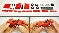 Old Red Cabriolet (hajdekr) Tags: car toy automobile lego small vehicle instructions cabrio assembly cabriolet