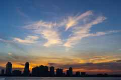Sunset Behind Hoboken (Wallace Flores) Tags: nyc nikon tribeca newyorkstate lowermanhattan d3s