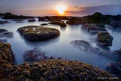 Sunset in Mengening, Bali Indonesia (Ricky Nugraha) Tags: sunset bali beach slowshutter pantai canggu mengening
