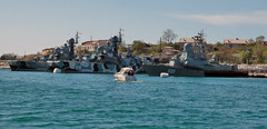 #sevastopol #  -  Bora and Samum (Andrey Velichko) Tags: sea lighthouse black monument bay pier russia ships navy sevastopol cruiser count flooded