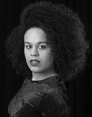 Quilla Constance (Quilla Constance) Tags: fiction face afro science headshot velvet spotlight actress constance androgynous quilla