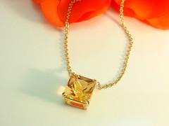 シトリンのペンダント  Citrine quartz  pendant (jewelrycraft.kokura) Tags: quartz citrine yellowgold ペンダント k18 シトリン イエローゴールド