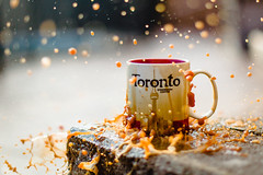 We The North! (PhotosbyCDOT) Tags: toronto coffee backlight bokeh splash canonef50mmf14usm 5diii