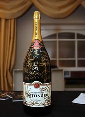 Signed Champagne Taittinger (baftaimages) Tags: london unitedkingdom champagne gb awards backstage bafta taittinger 2014 baftatv
