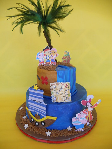 Admirable Jake And The Neverland Pirates Birthday Cake A Photo On Flickriver Personalised Birthday Cards Fashionlily Jamesorg