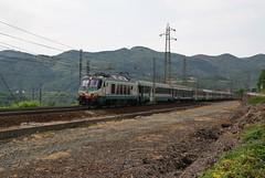 Nel torbido si pesca meglio..... (Maurizio Zanella) Tags: italia trains railways fs alessandria trenitalia ferrovia treni arquata icn784 e402a018 icn35984