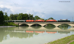 E 94 088, 1020 018, 1020.37 und 1141.21 (vsoe) Tags: 1020 krokodil freilassing sonderzug elok e94 salzachbrücke krokodiltreffen