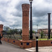 Carved Brick Piers and ceramic details 1997 - The Gasworks In Belfast