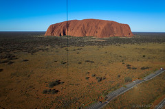 KAP on ULURU at sunset (Pierre Lesage) Tags: red desert australia outback uluru kap ricohgr kiteaerialphotography ayersrock autokap pierrelesage danleighdeltar8 northterritories kapstock