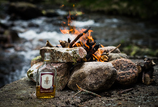 Fire and whisky, a great combination.