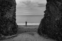 somewhere (zip po) Tags: ireland cloud beach monochrome evening fisherman tide