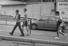 Smena Symbol - Some Lads (Kojotisko) Tags: street city people bw streets vintage person czech streetphotography brno cc creativecommons vintagecamera czechrepublic streetphoto persons smena smenasymbol  fomapan400 fomapan400action