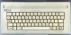 ZX Spectrum with Saga 1 Emperor keyboard (Jim Davies) Tags: computer micro 8bit basic zxspectrum sinclair microcomputer homecomputer veebotique saga1emperor