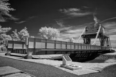 Pegasus Bridge IR B&W (Pete Fletcher Photography) Tags: