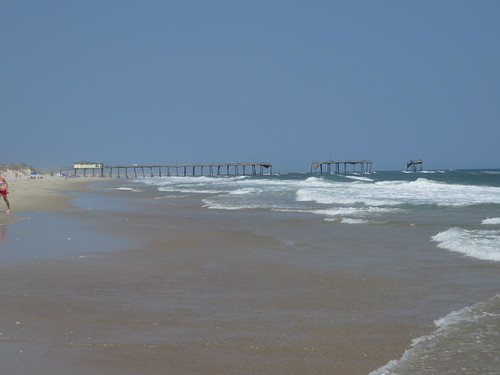 Frisco Pier, Destroyed in 2010 by Hurricane Earl, Frisco, North Carolina as Seen from Cape Hatteras National Seashore