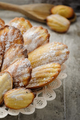 Madeleines (Fugamundi) Tags: food cooking cake french dessert photography sweet culture spoon nopeople sugar indoors biscuit homemade pastry madeleine product freshness
