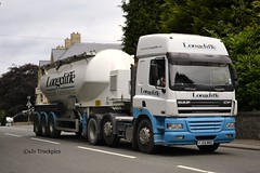 DAF CF Longcliffe Quarries Derbyshire (SJS Truck & Transport Photography.) Tags: transport powder limestone trucks tankers bulk daf lorries longcliffe