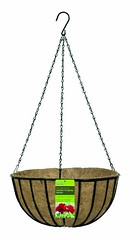 """Gardman R408 14"""" Black Traditional Hanging Basket with Coco Liner Recommended (sarahalava) Tags: black basket traditional coco hanging liner recommended gardman r408"""