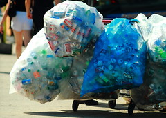 recycle on wheels (pabak sarkar) Tags: streets plastic cans cart recycle plasticbags