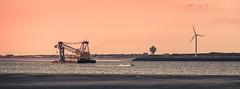 Odd Vessel (Fairy_Nuff (new website - piczology.com!)) Tags: new sunset rock golden twilight brighton dusk vessel odd hour perch mersey welshot