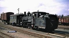 76cm gauge Class 399 0-8-4 No. 399-04 after arriving at Gmund in Austria with a short freight. 13-08-1969 (Yeovil Town) Tags: 1969 narrowgauge dampflok gmund obb austrianrailways 39904