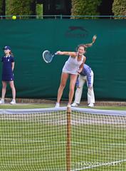 Bojana Jovanovski   TrinDiego, Wimbledon (TrinDiego) Tags: england white london grass court serbia atp 45 tennis 1991 belgrade wimbledon yugoslavia wta sw19 2014 jovanovski bojana no45 bojanajovanovski trindiego