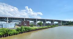 The Hope Memorial Bridge (1932) (tbower) Tags: bridge ohio geotagged nikon raw nef clevelandohio hdr cuyahogariver loraincarnegiebridge cs6 hopememorialbridge d3s nikongp1 photomatixpro4 williamhenryhope nikkor24120f4vr