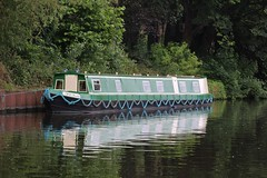 A boat on the water (SlightlyReliable70 2010-2015) Tags: cruise summer house reflection green home wet scarlet river boats boat canal lock south yorkshire will boating waters loch float barge 147 waterway yorks 146 swinton denaby mexborough navegation new120714southyorks