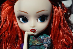 Barbara (kimberly ()) Tags: red hair stock barbara curly gordon wig pullip batgirl limited edition pullips sdcc