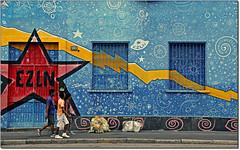 EZLN (rogilde - roberto la forgia) Tags: street travel italy milan color colors canon underground hp italia maya milano centro social periferia colori bicocca lombardia grafica messico ezln fulmine sociale integrazione saette