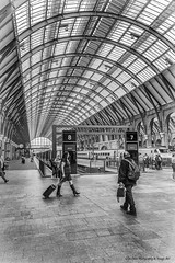 Waiting On a Train (Glyn Owen Photography & Image-Art) Tags: uk england london station architecture work iron cross eurostar columns railway landmark icon historic international kings beams supports ldn