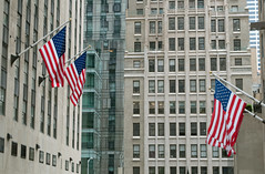 Rockefeller Center (stevesheriw) Tags: newyork newyorkcity rockefeller center plaza flag