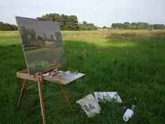 Pod Rokotowem (przemko.stachowski) Tags: art river painting landscape poland canvas oiloncanvas przemkostachowski rokotów