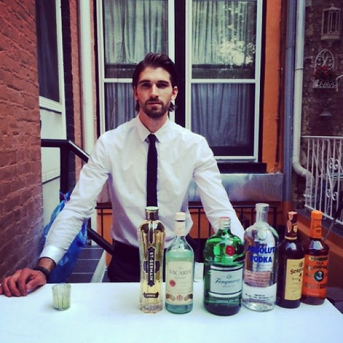 It was such an honor to have Christian Bale to bartend for us tonight! #ChristianBale #MixologyNYC