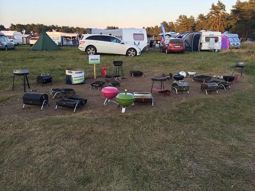 O-Ringen Camping: Verwaister Grillplatz