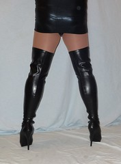 3 (read my Profile before anything!!!!!) Tags: black high highheels boots heels overknees