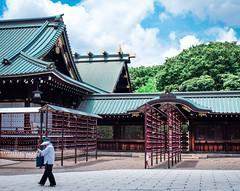 Yasukuni (campra) Tags: old japan lady tokyo shrine empire shinto yasukuni honden haiden