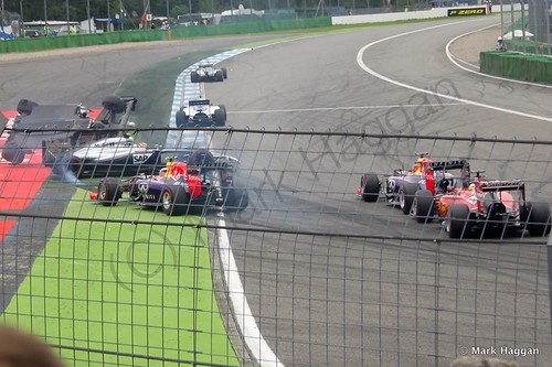 Felipe Massa's first lap accident at the 2014 German Grand Prix