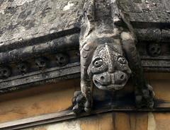 Stourbridge Gargoyle (Tony Worrall Foto) Tags: above uk roof england sculpture stone carved tour place grim visit location made figure stare westmidlands stourbridge metropolitanboroughofdudley 2014tonyworrall stourbridgegargoyle
