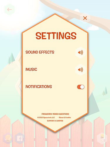 Disco Bees Settings: screenshots, UI