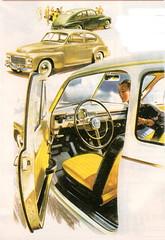 Volvo PV544 (1958-66) (andreboeni) Tags: classic car automobile cars automobiles voitures autos automobili classique voiture rétro retro auto oldtimer klassik classica publicity advert advertising advertisement illustration volvo pv 544 pv544 dashboard fascia interior